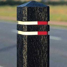 Antiparkeerpaal Zwart Kunststof 15x15x140 cm