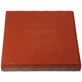 Betontegel 30x30x4.5cm rood   (11 st - m<sup>2</sup>)