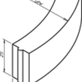 Bochtband 13-15x25-78.5cm R= 0.50 M inwendig vb KOMO grijs