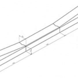 Inritverloopband 18-20x25cm midden vb KOMO grijs
