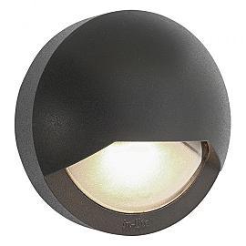 In-Lite Blink Dark Wall 12V-1.5W LED Alu. Dark Grey. WW
