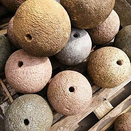 Restpartij Borrelsteen Chinees Graniet diverse kleuren Ø 30 cm (Uitlopend) OW2019