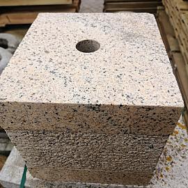 Restpartij Fontein Graniet Gepolijst Geel Kubus 20x20x20cm (Uitlopend) OW2019