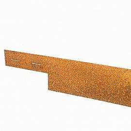 Kantopsluiting Cortenstaal 3mm ongecoat  225x10.2 cm incl. 3 pennen