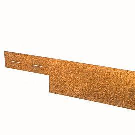 Kantopsluiting Cortenstaal 3mm ongecoat  225x15.2 cm incl. 3 pennen
