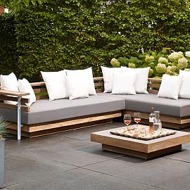 London Lounge deco cushions big 55x55 White