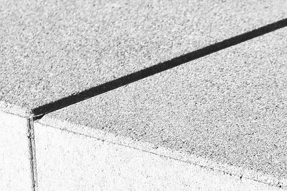 GeoTouch Muurafdekplaat 100x25x5 cm Wit uitlopend