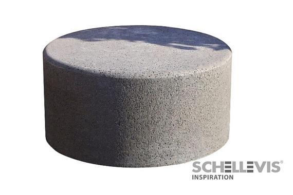 Poef Schellevis 100x60x40 grijs