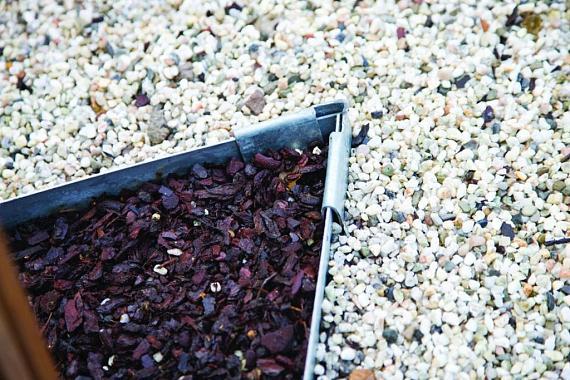 Kantopsluiting Cortenstaal 3mm hoekstuk 90 graden ongecoat 21x10.2 cm