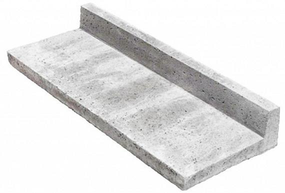 Schellevis Traptreden 100x40x15 cm (L-model) grijs