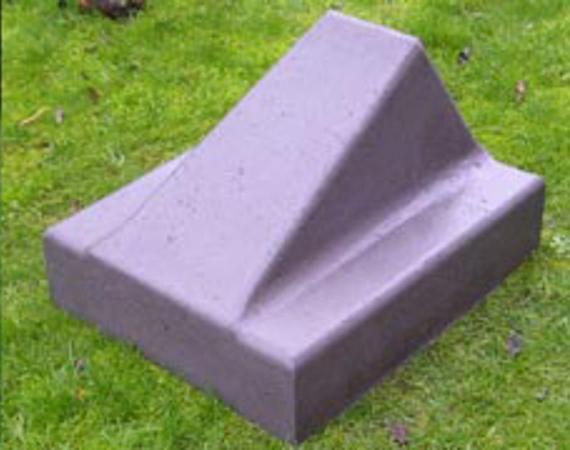 Schrikblok(Schampblok) Grijs   60x50x40 cm.