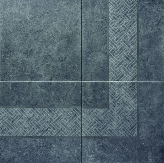 Design Naturals 60x60x3 cm Caliza Marin Border Angle
