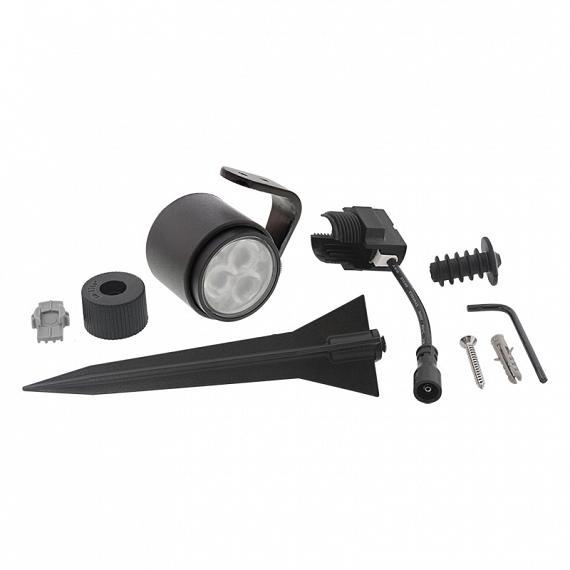 In-Lite Mini SCOPE Spot 12V-2W LED Aluminium Dark Grey WW (volledig zwart)