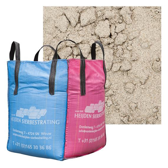 Plaatzand-Ophoogzand in Big bag  1400kg = 1m<sup>3</sup>