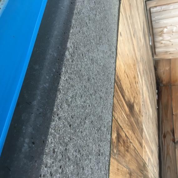 Magma Rocca Nero Zwembadrand 100x30x3-5cm Gevlamd met gezoete neus